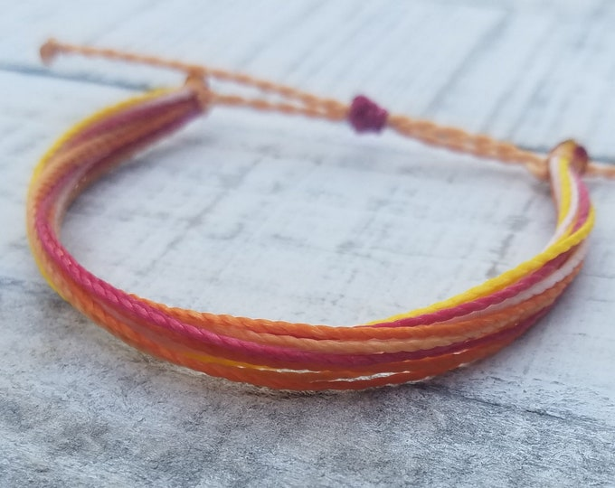 String Bracelet, Adjustable, Waterproof, Friendship Bracelet, Surfer Anklet
