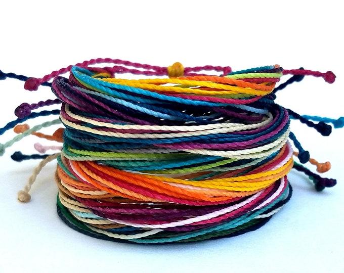 Friendship Bracelet Pack, Set of 10 Bracelets, Adjustable String Bracelets, Custom Bracelets, Choose Your Colors