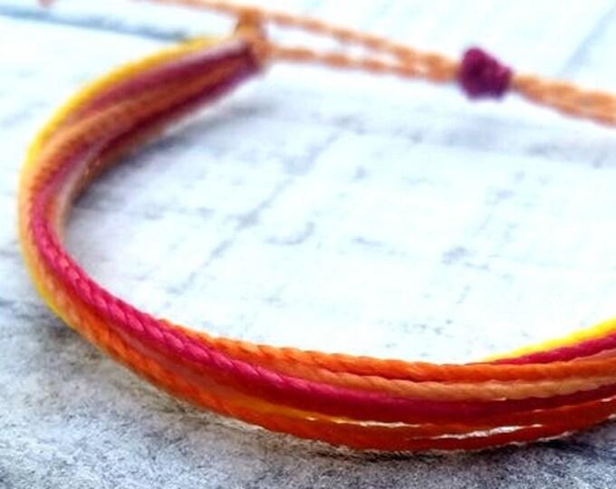 String Bracelet, Adjustable, Waterproof, Friendship Bracelet, Surfer Anklet