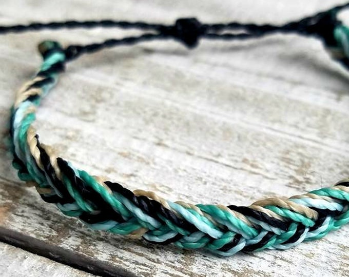 Fly Away Chevron Bracelet, Multi-Color String Bracelet, Adjustable Surfer Bracelet