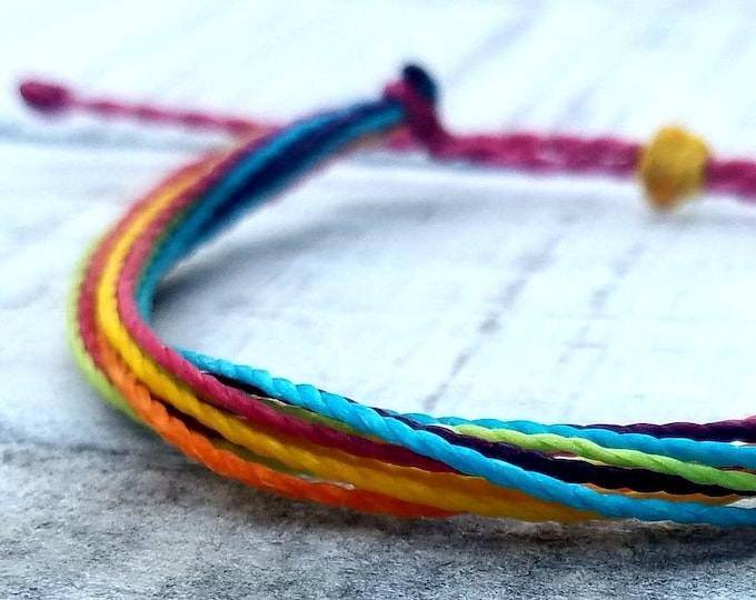 Fruity Paradise String Bracelet, Adjustable & Waterproof, Friendship Bracelet