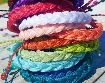 Braided Bracelet, Choose Your Color,  Adjustable Waterproof Bracelet, Boho Surfer Anklet