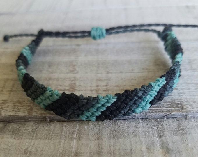 Flat Braid Bracelet, Choose Your Colors, Surfer Bracelet, Friendship Bracelet, Beach Bracelet, Waterproof Bracelet