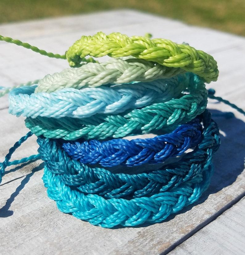 Braided Bracelet Choose Your Color  Adjustable Waterproof image 0