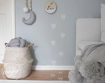 Easter Bunny Tracks | VINYL Wall Decals | Easter Footprint Decorations Set | Bunny Rabbit Foot Print Stickers | Gender Neutral Nursery Décor