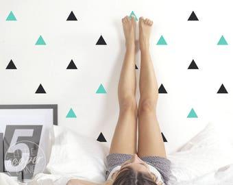 Triangles | VINYL Wall Decals | 7.5cm (3 inch) | 2 Colour | Modern Geometric Shapes Stickers | Baby Boys Girls Nursery Kids Teens Room Décor