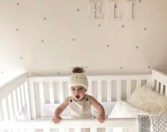 MINI Polka Dots   VINYL Wall Decals   2.5cm (1 Inch)   Multi Colour   Confetti Spots   Round Circle Stickers   Boys Girls Baby Nursery Décor