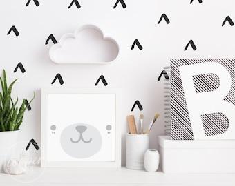 Hand Drawn Arrows | VINYL Wall Decals | Wallpaper Alternative | Geometric Irregular Triangles Stickers | Baby Boys Girls Nursery Kids Room