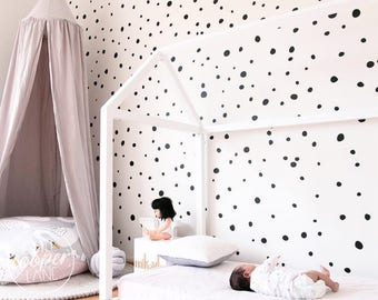 Hand Drawn Polka Dots | VINYL Wall Decals | Irregular Round Spots Stickers | Sets of 165 | Baby Nursery Boys & Girls Kids Room Décor