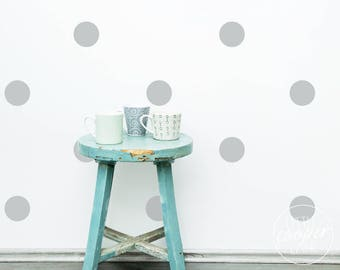 Polka Dots 9.5cm | VINYL Wall Decals | 3.8 inches | Large Round Spots Circles Stickers | Baby Boys Girls Nursery Kids Room Décor