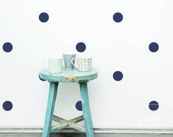 Polka Dots 7.5cm | VINYL Wall Decals | 3 Inches | Multi Colours | Round Spots Circles Stickers | Baby Boys Girls Nursery Kids Room Décor