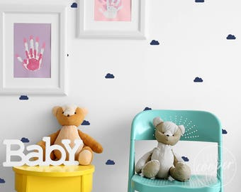 MINI Clouds   VINYL Wall Decals   Small Fluffy Clouds Stickers   5cm   Baby Nursery Boys Girls Kids Room Décor