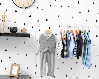 MINI Irregular Triangles | VINYL Wall Decals | Multi Colour Options | Hand Drawn Arrows Stickers | Baby Nursery Boys Girls Kids Room Décor