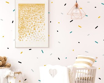 Sprinkles   VINYL Wall Decals   Colorful Modern Confetti Lines Stickers   Multiple Colours   Baby Boys Girls Nursery Kids Room Décor