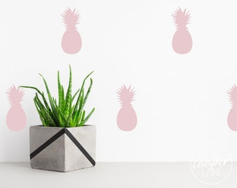 Pineapples | VINYL Wall Decals | Fun Tropical Fruit Stickers | Size Options | Baby Boys Girl Nursery Kids Teens Room Décor