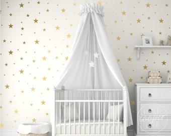 Stars | VINYL Wall Decals | Multi Colour Mixed Size Star Stickers | Peel & Stick | Children's Baby Boys Girls Nursery Kids Room Décor