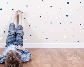 Hand Drawn Polka Dots   VINYL Wall Decals   3 Colours   Irregular Spots Stickers   Sets of 321   Baby Boys Girls Nursery Kids Room Décor