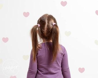 Hearts   VINYL Wall Decals   Modern Love Heart Stickers   2 Colours   112 Pack   Baby Boys Girls Nursery Kids Teens Room Décor