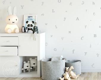 Alphabet | VINYL Wall Decals | Peel & Stick | Educational ABC Stickers | Multi Colour Options | Baby Boys Girls Nursery Kids Room Décor