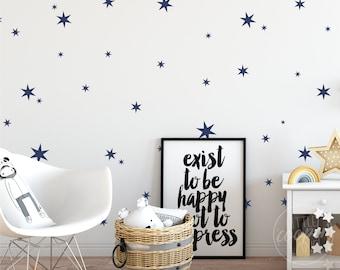 Stars | VINYL Wall Decals | Mixed Size Star Stickers | Peel & Stick | Children's Baby Boys Girls Nursery Kids Room Décor