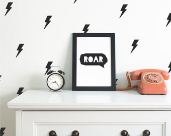 Lightning Bolts   VINYL Wall Decals   9cm (3.5 Inch)   Electric Flash Thunderbolt Storm Stickers   Baby Boys Girls Nursery Kids Room Décor