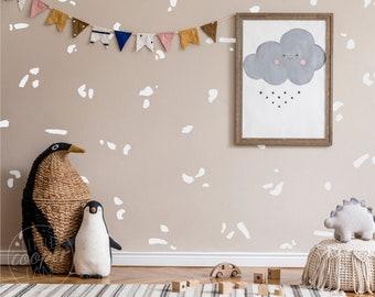 Irregular Paint Wall Decals | Modern Feature Wall | Random Spots Wall Decal Vinyl Stickers | Baby Nursery, Boys & Girls Kids Room