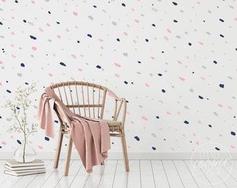 Speckles & Splodges | VINYL Wall Decals | Irregular Hand Drawn Polka Dot Stickers | Multi Colour Options | Boys Girls Baby Nursery Kids Room