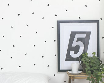 MINI Confetti Triangles   VINYL Wall Decals   3cm (1.2 Inch)   Modern Stickers   Sets of 256   Baby Boys Girls Nursery Kids Teens Room Décor
