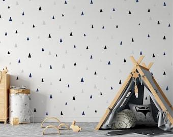 Irregular Triangles  | VINYL Wall Decals | Multi Colour Options | Hand Drawn Arrows Stickers | Baby Nursery Boys Girls Kids Room Décor
