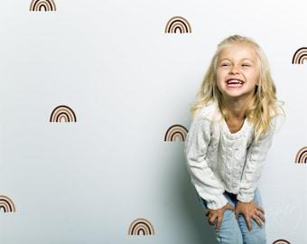 Rainbow Wall Decals | Multi Colour Options | Colorful Rainbow Arch Vinyl Stickers | Peel & Stick | Boys Girls Baby Nursery Decor