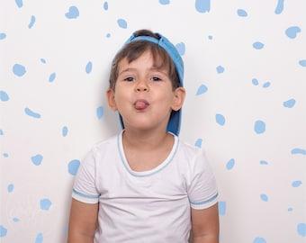 Terrazzo | VINYL Wall Decals | Powder Blue | Irregular Polka Dots | Hand Drawn Stickers | Children Boys Girls Nursery Décor For Kids Room