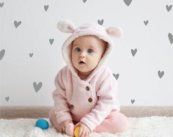 Hand Drawn Hearts   VINYL Wall Decals   Irregular Love Heart Stickers   Size + Quantity Options   Baby Boys Girls Nursery Kids Room Décor