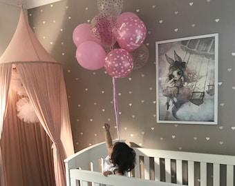 Heart Confetti | VINYL Wall Decals | Cute Love Heart Stickers | Size Options 2.5cm / 5cm | Baby Boys Girl Nursery Kids Teens Room Décor