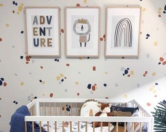 Painted Polka Dots   VINYL Wall Decals   Irregular Hand Drawn Spots Stickers   Peel & Stick   Children Boys Girls Nursery Décor Kids Room