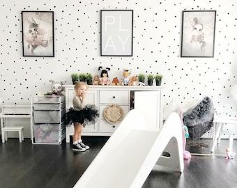 MINI Hand Drawn Polka Dots | VINYL Wall Decals | Irregular Spots Modern Stickers | Sets of 260 | Baby Boys & Girls Nursery, Kids, Room