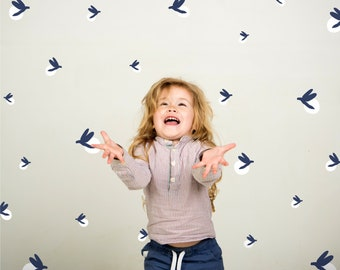 Fireflies | VINYL Wall Decals | 60 Pack | 2 Colours | Peel & Stick | Modern Firefly Wall Decal Stickers | Boys Girls Baby Nursery Décor