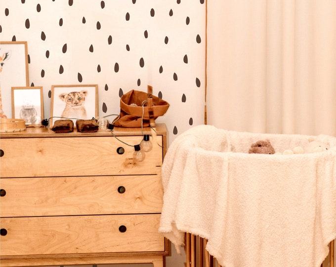 Featured listing image: Watermelon Seeds | VINYL Wall Decals | Multi Colour | Irregular Hand Drawn Polka Dots Stickers | Gender Neutral | Boy Girl Nursery Kids Room