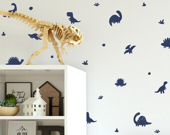 Dino Decals   Peel & Stick Wall Decals   Multi Colour Options   Vinyl Stickers   Baby Nursery, Boys and Girls Kids Room