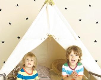 Stars   VINYL Wall Decals   5cm (2 inch)   Night Sky Stickers   Small Stars   Peel & Stick   Baby Boys Girls Kids Nursery Room Décor