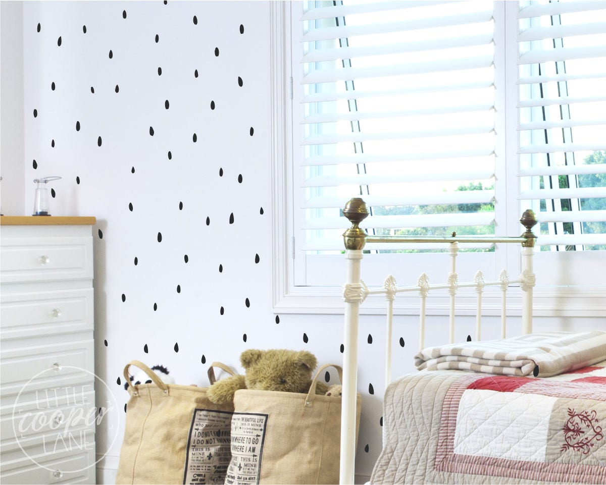 40 Polka Dots Kids wall art vinyl decal Removable boy girl bedroom