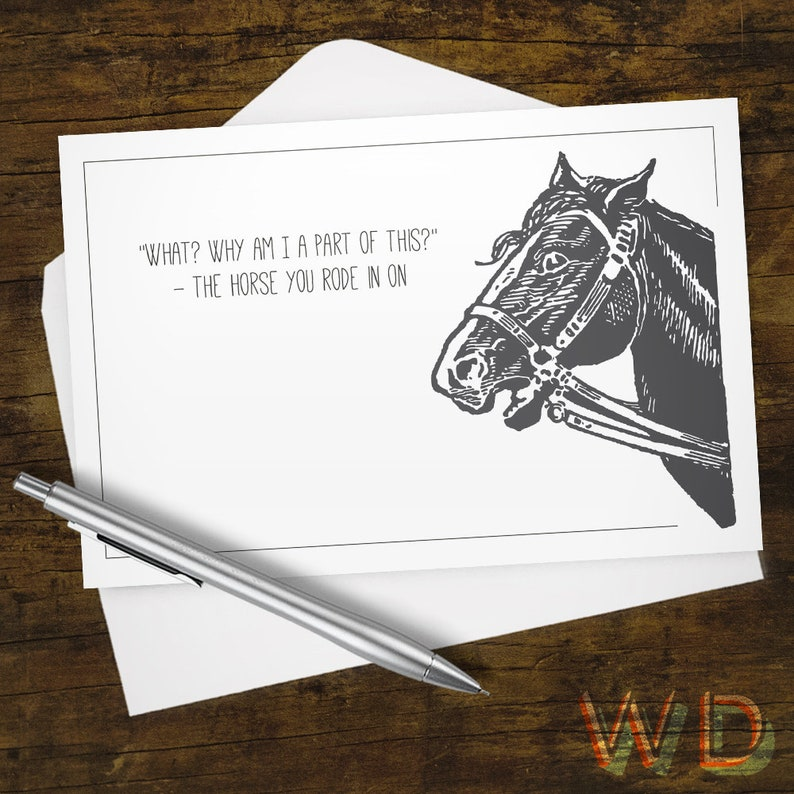 Greeting Card Horse You Rode In On Stationery Note Card image 0