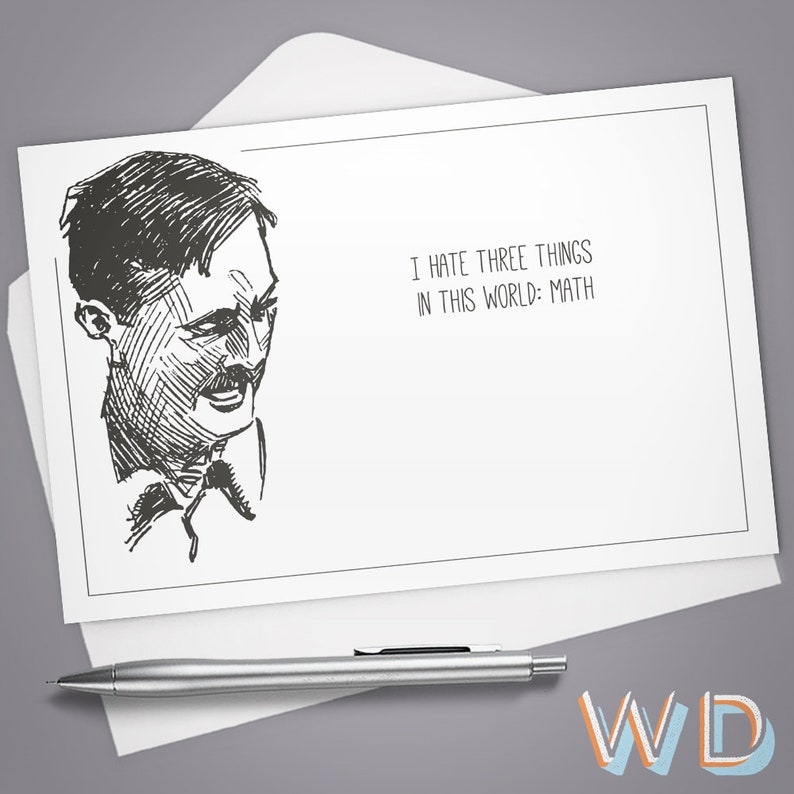 Greeting Card I Hate Three Things in this World: Math Funny image 0