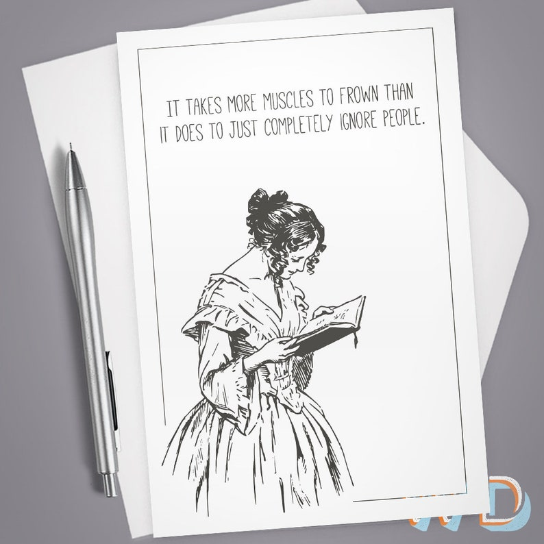 Greeting Card Takes More Muscles to Frown Vintage image 0