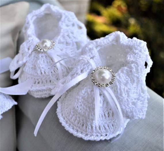 Slipper style Heirloom baby christening