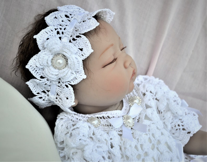 "Special Beginnings Baby's Christening Doll 8"" White Outfit For Child's Baptism N"