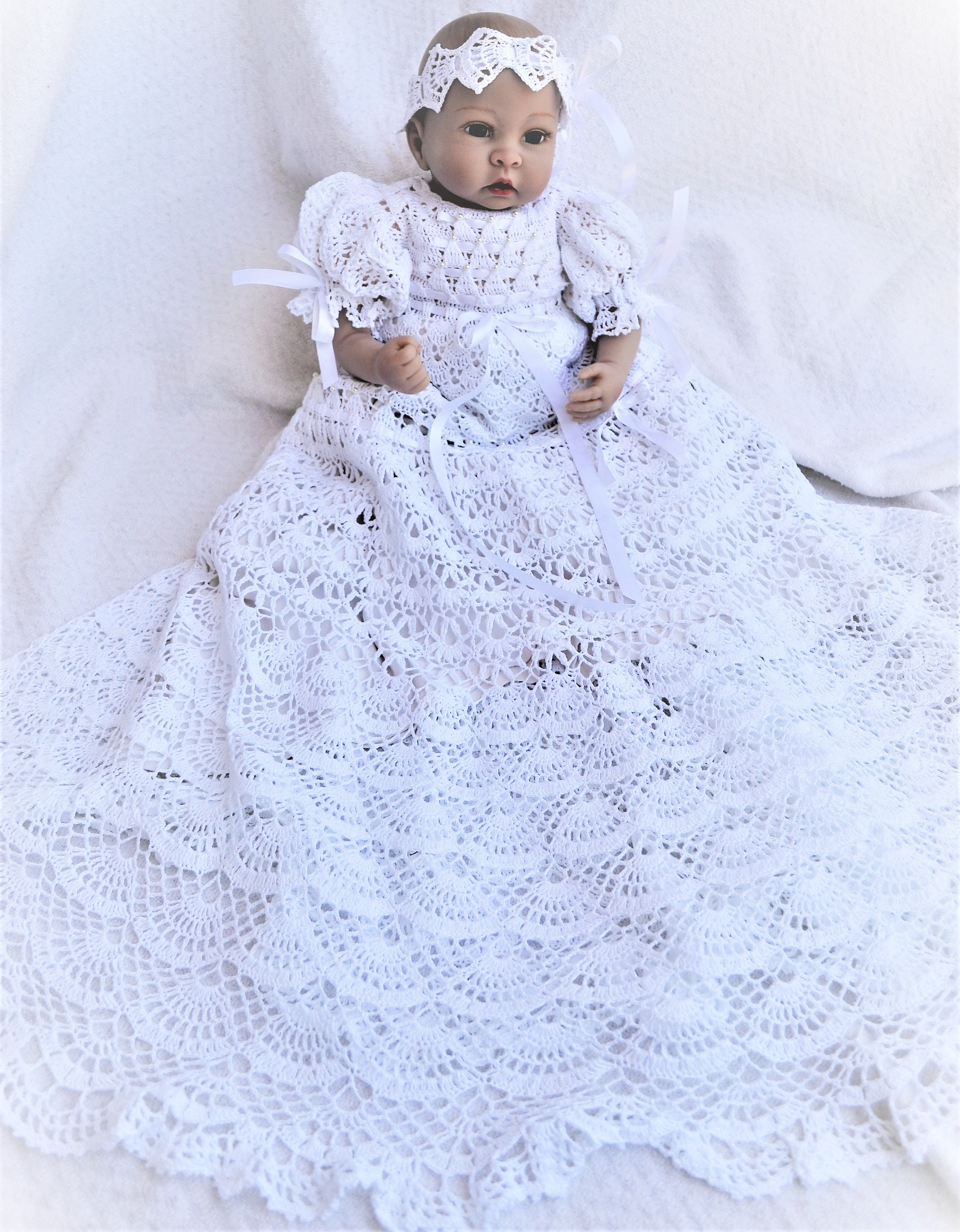 5 Crochet Patterns Of Christening Gowns At A Special Discount Etsy