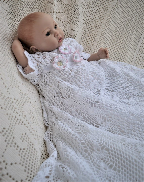 HVCBaby Crochet Christening Gown Pattern Crochet Etsy Extraordinary Crochet Christening Gown Pattern