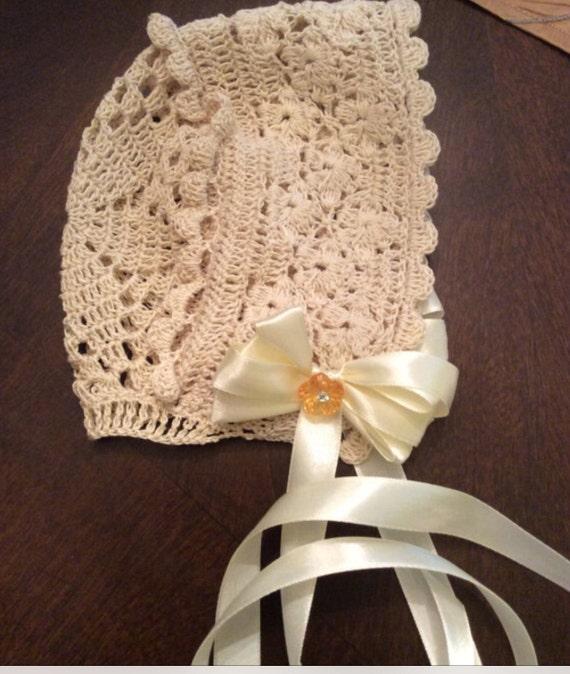 Crochet Baby Bonnet Pattern Christening Bonnet Pattern Etsy