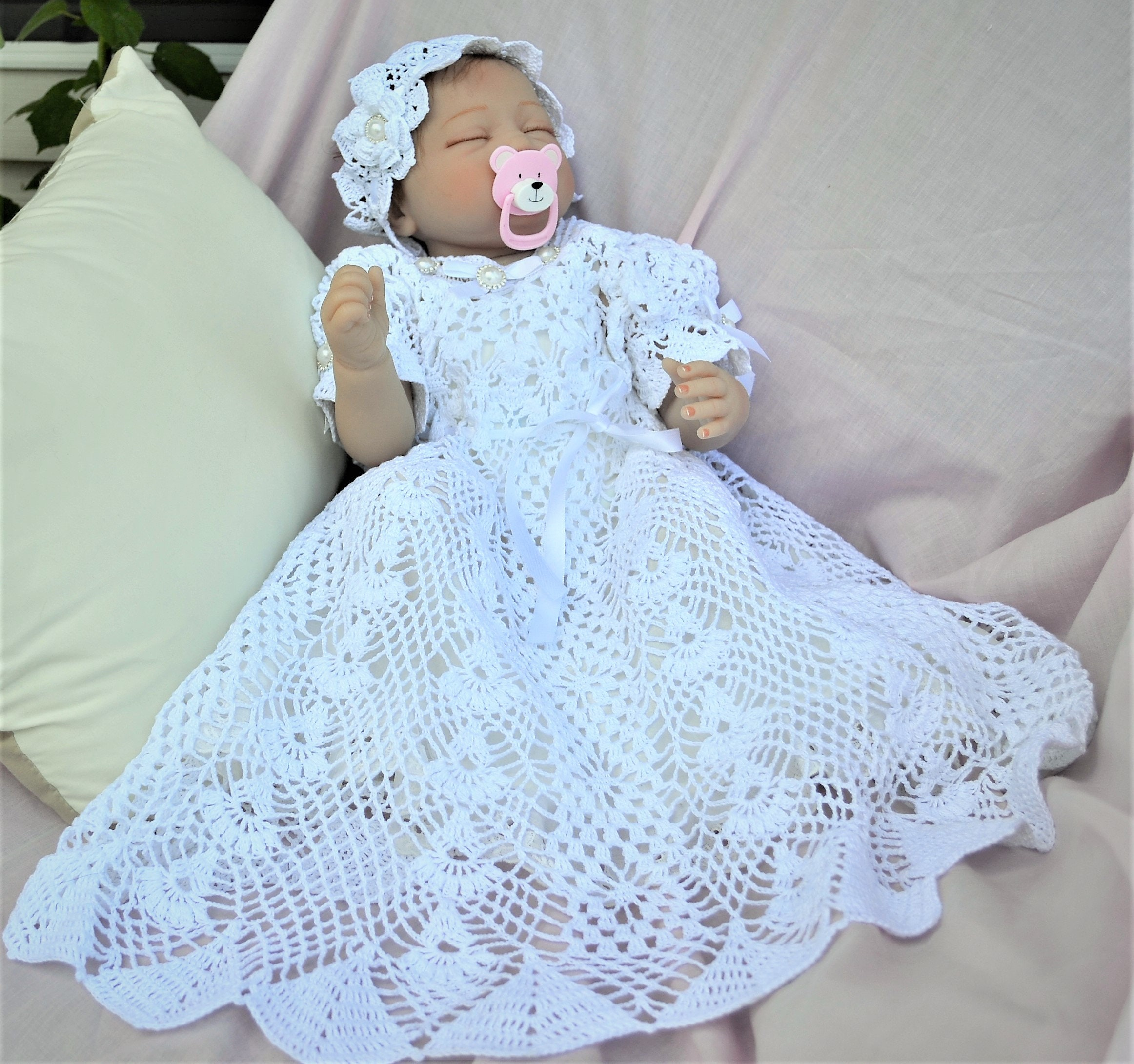 Vintage Crochet Christening Gown Patterns