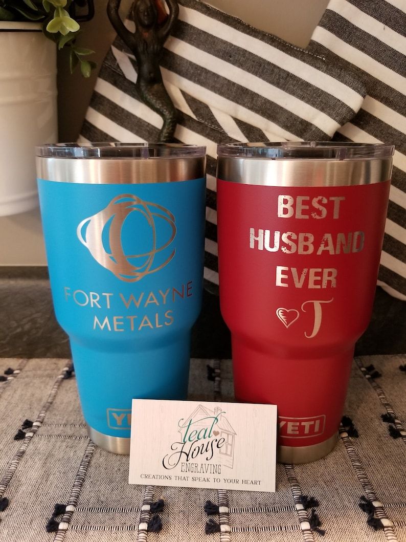Engraved Tumbler, Engraved Yeti, Engraved Cup, Personalized Yeti,  Personalized Tumbler, Personalized Cup, Yeti Decal, Cup Decal, Wedding